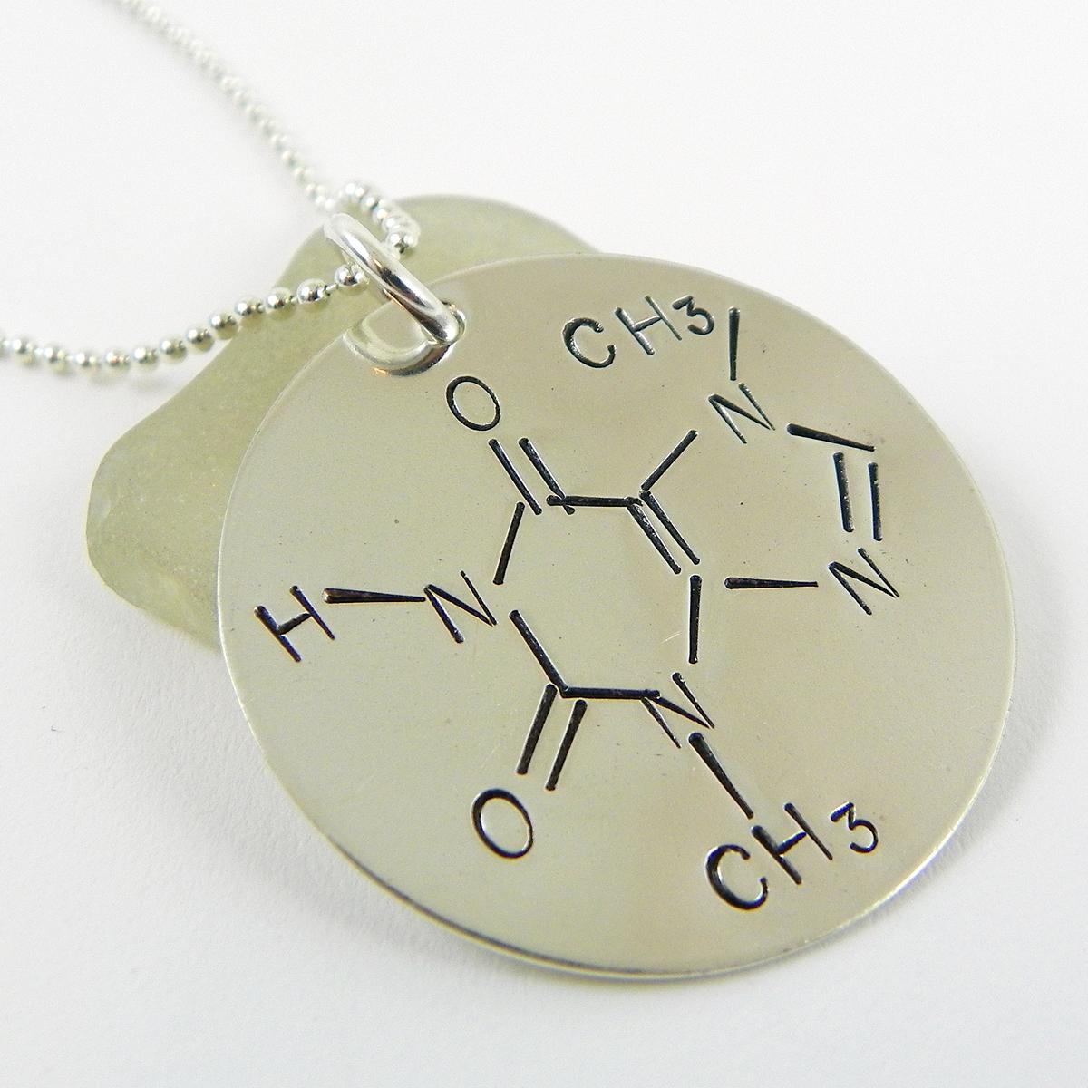 Chocolate / Theobromine Molecule Necklace