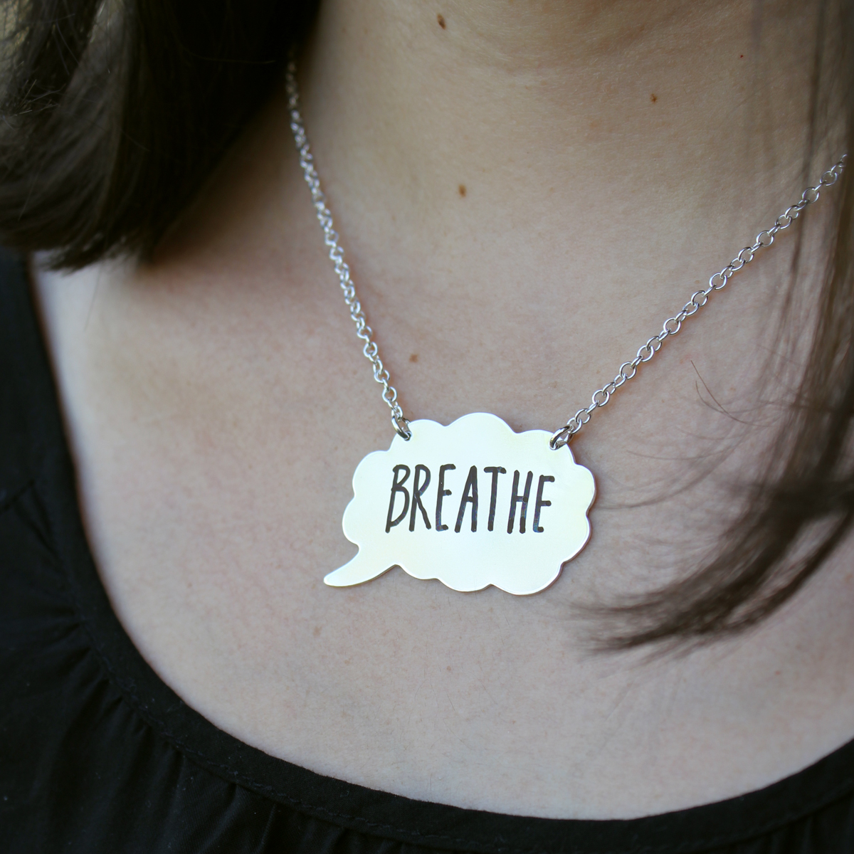 Tattle Tales Write On/Wipe Off Thought Bubble Necklace