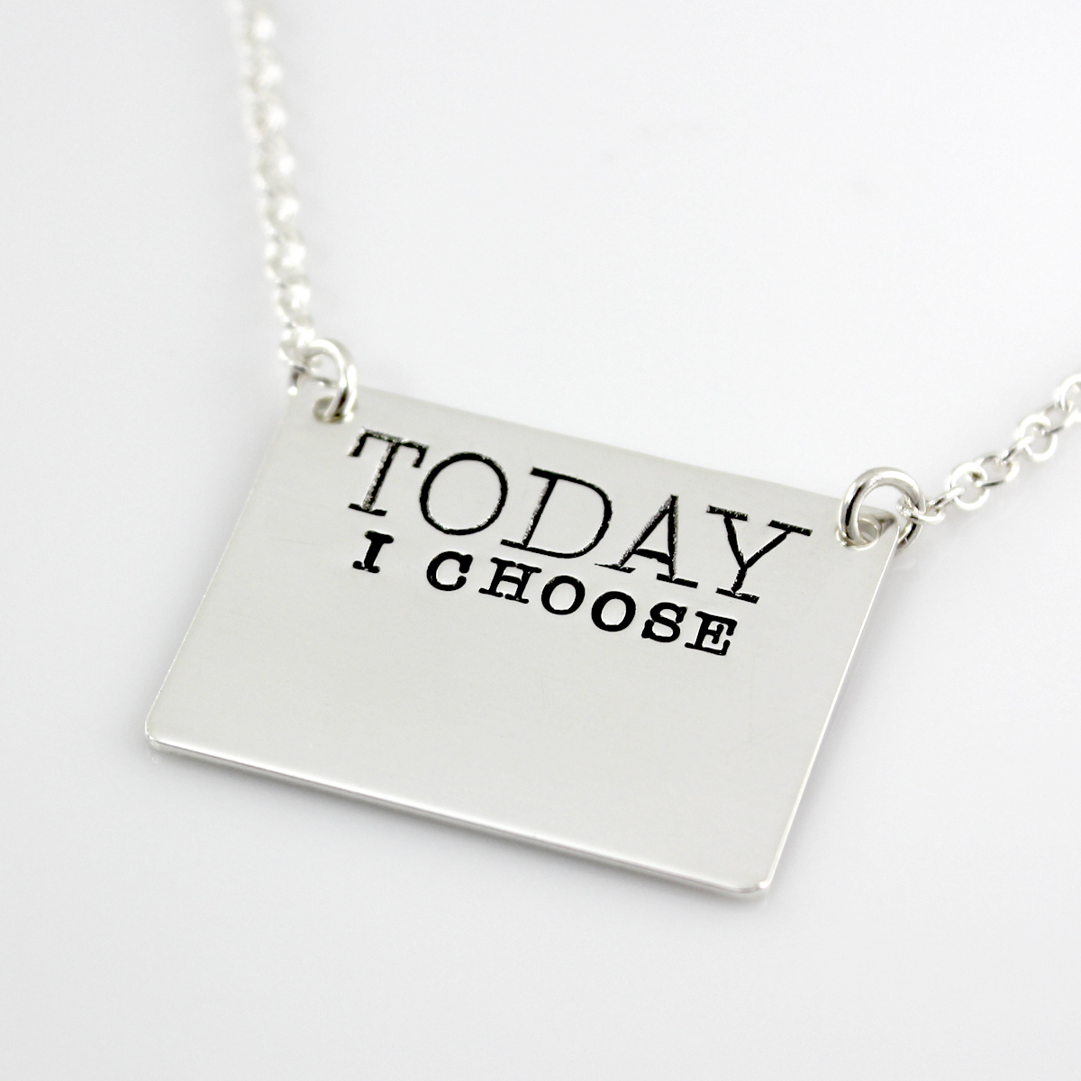 Tattle Tales Write On/Wipe Off 'TODAY I CHOOSE' Necklace