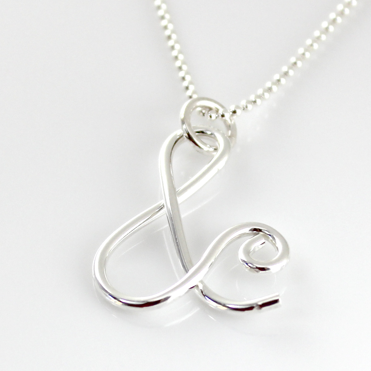 Ampersand Necklace | Sterling Silver