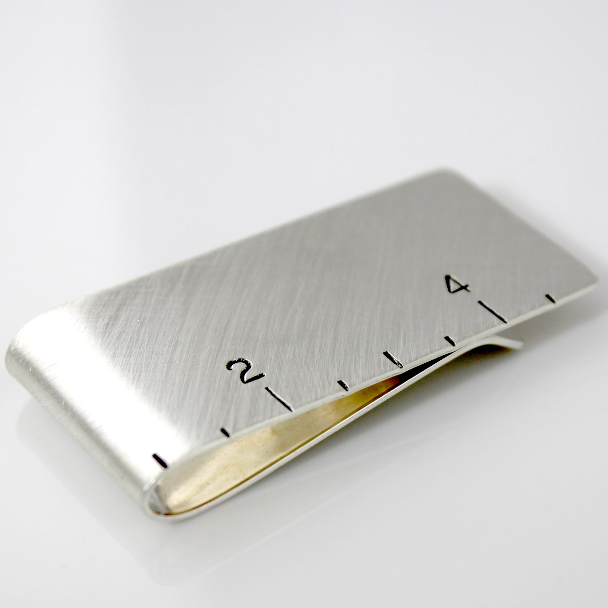 Ruler Hand Stamped Sterling Silver Money Clip