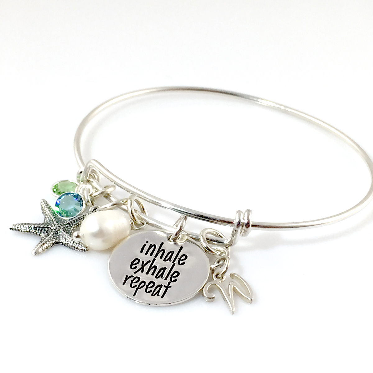 Inhale Exhale Repeat Simply Charming Bangle Bracelet