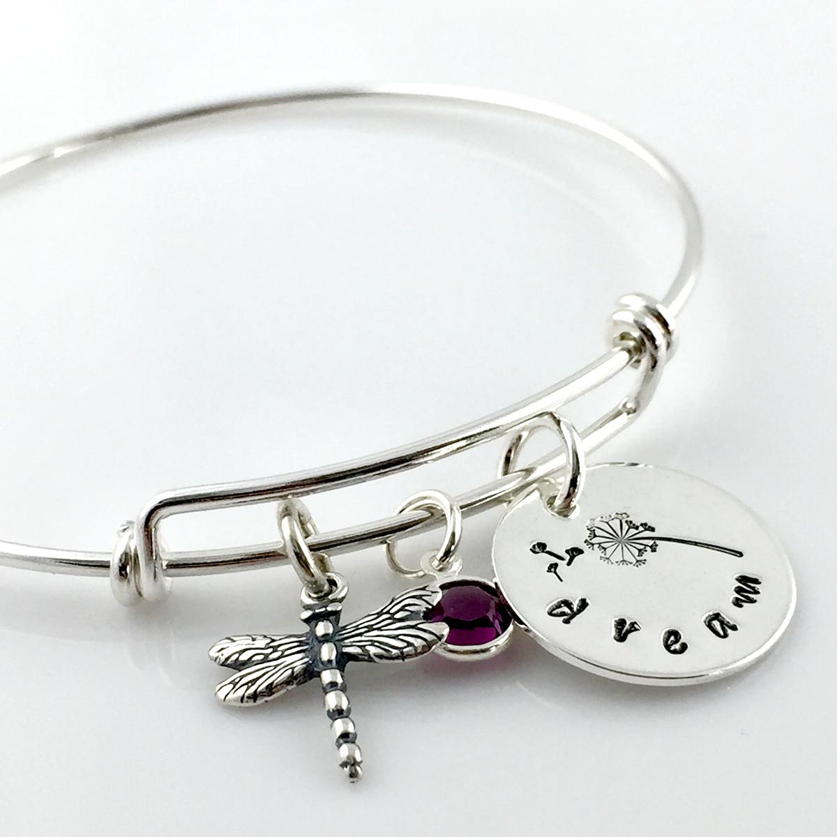 Dandelion Dream Simply Charming Bangle Bracelet