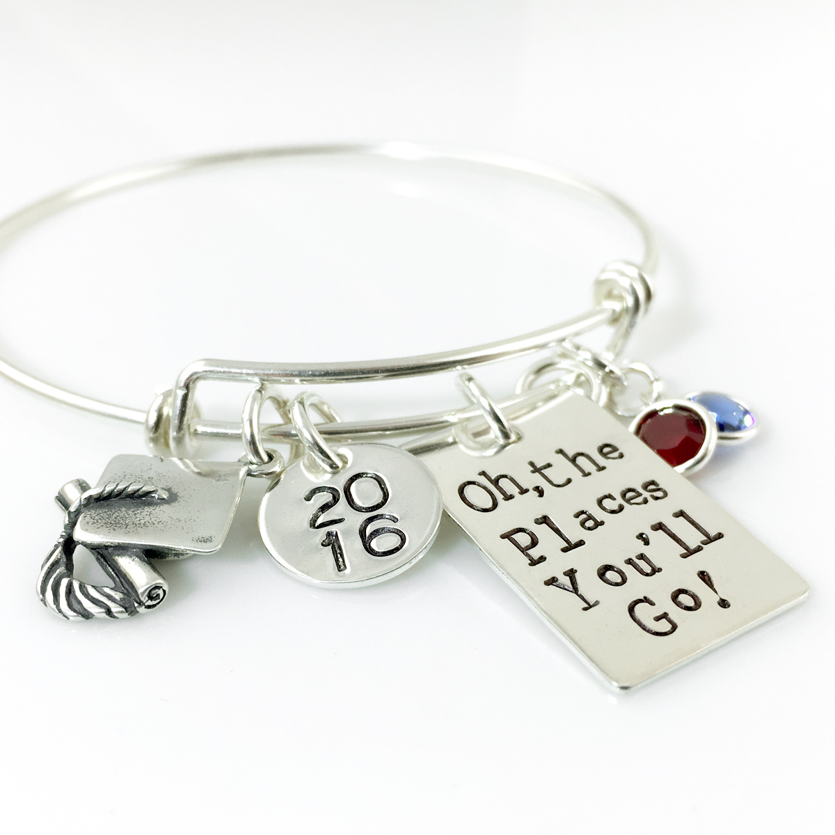 Oh the Places You'll Go Graduation Simply Charming Bangle