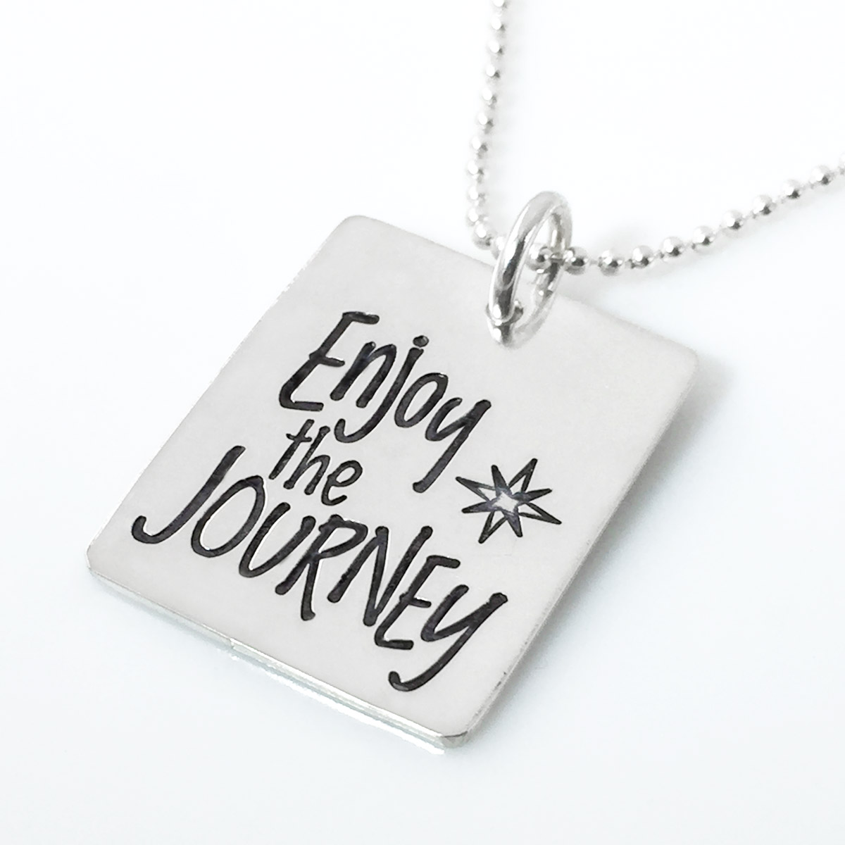 Enjoy the Journey Inspirational Quote Necklace