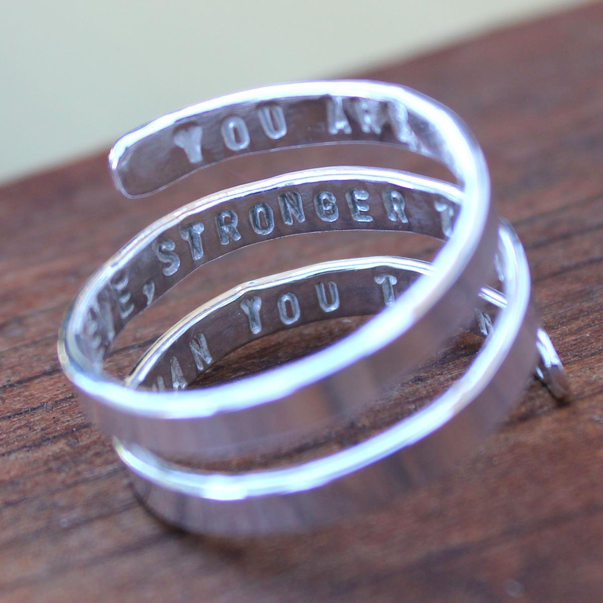 Secret Message Quote Ring