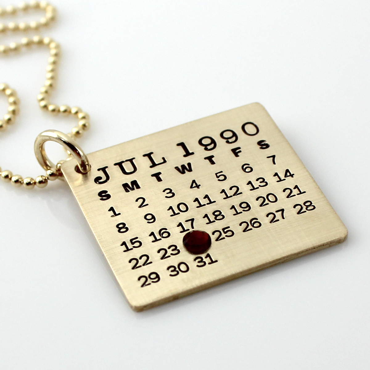 Mark Your Calendar Necklace - Gold Filled