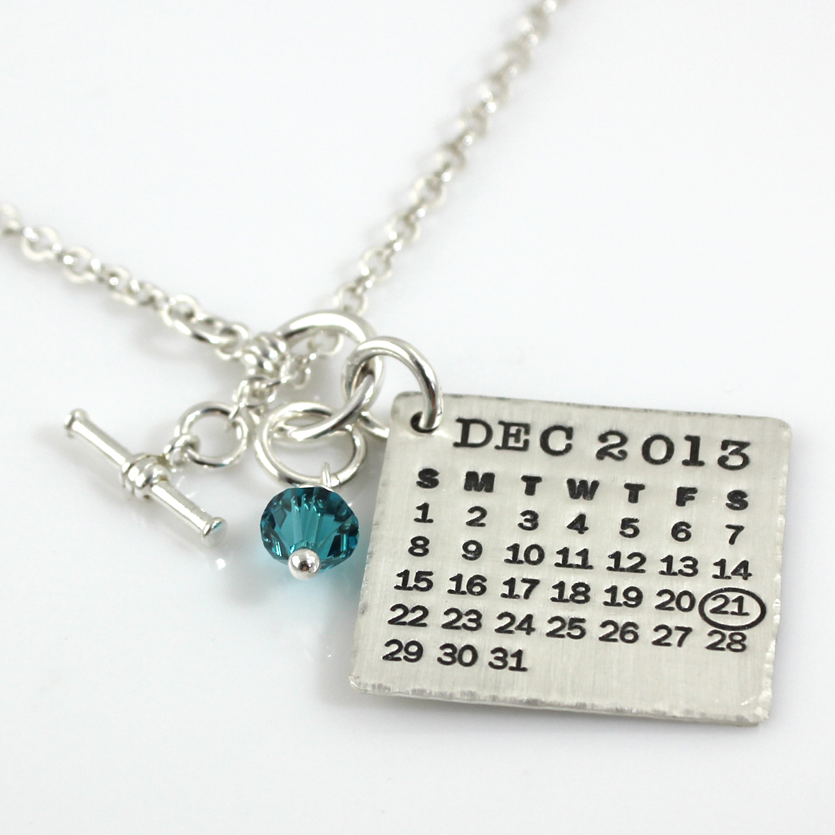 Mark Your Calendar Necklace with Toggle Clasp and Crystal