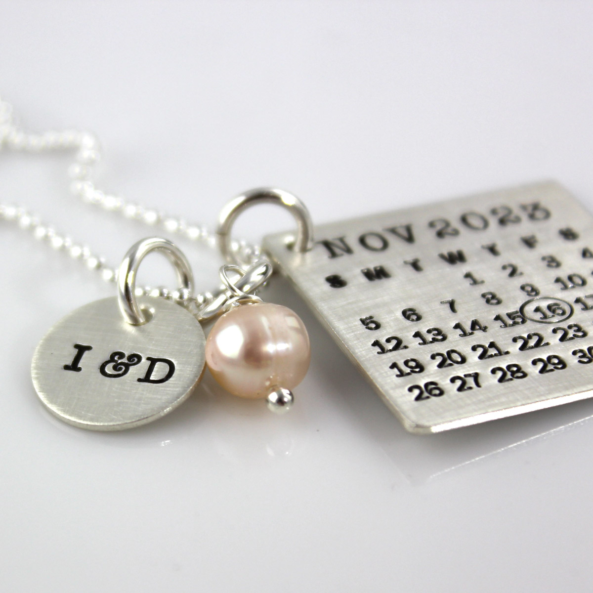Mark Your Calendar Necklace with You & Me Charm