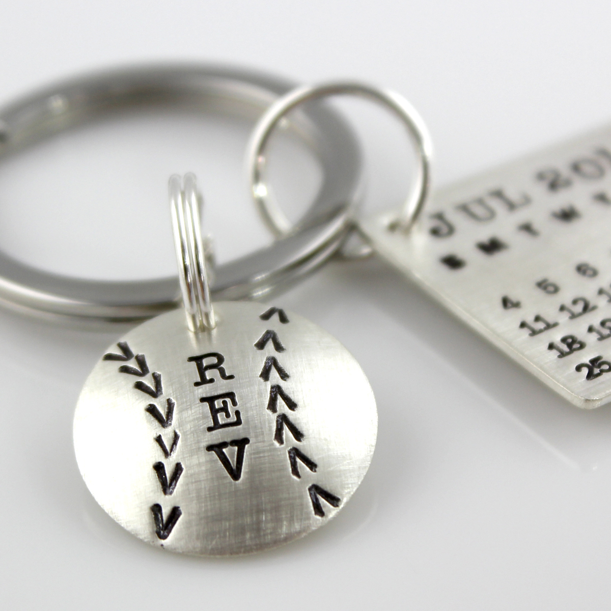 Mark Your Calendar Key Chain with Baseball Charm
