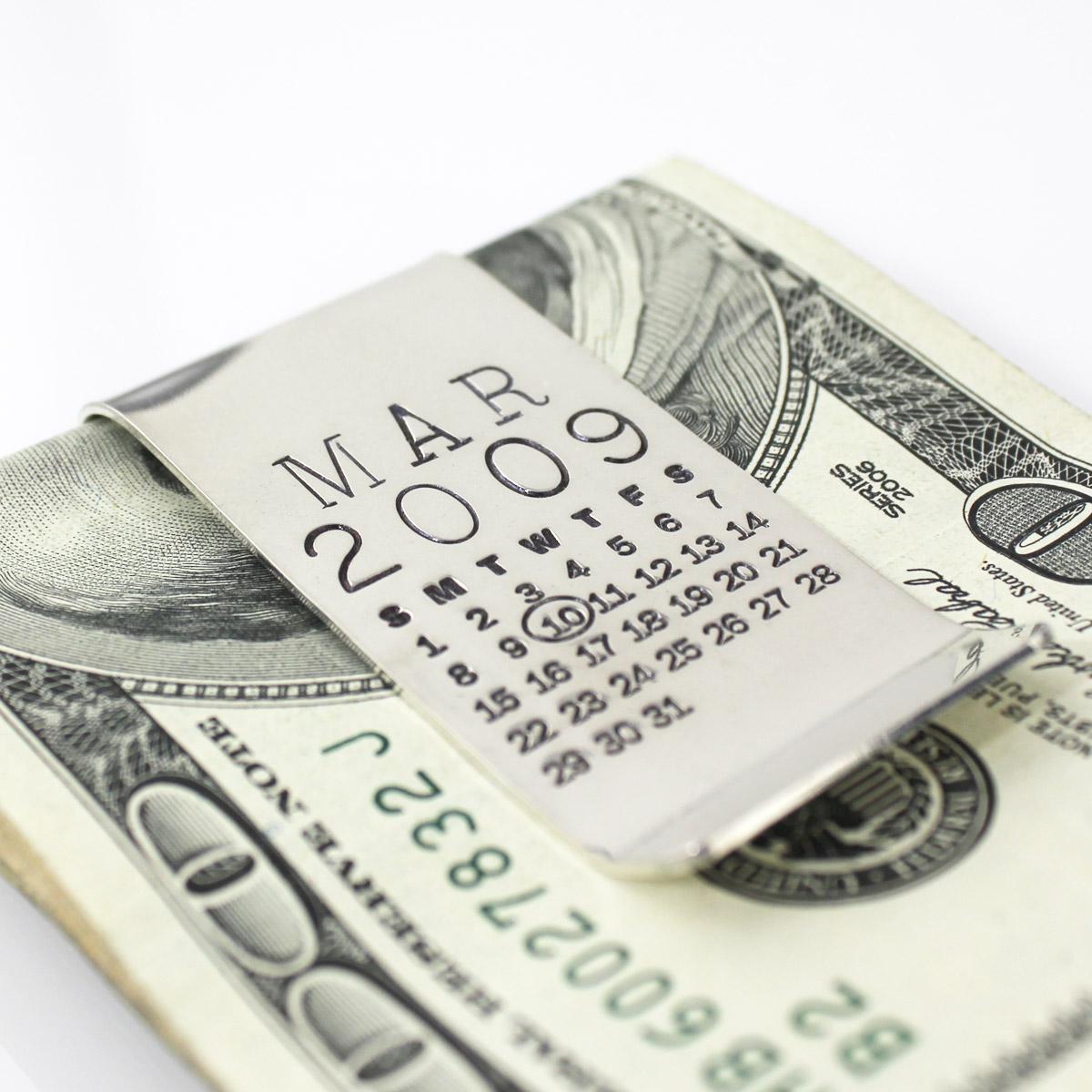 Mark Your Calendar Double Money Clip - One Calendar/One Message