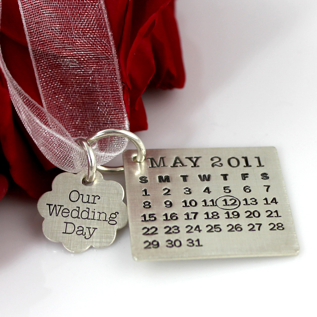 Mark Your Calendar Bouquet Charm and Necklace