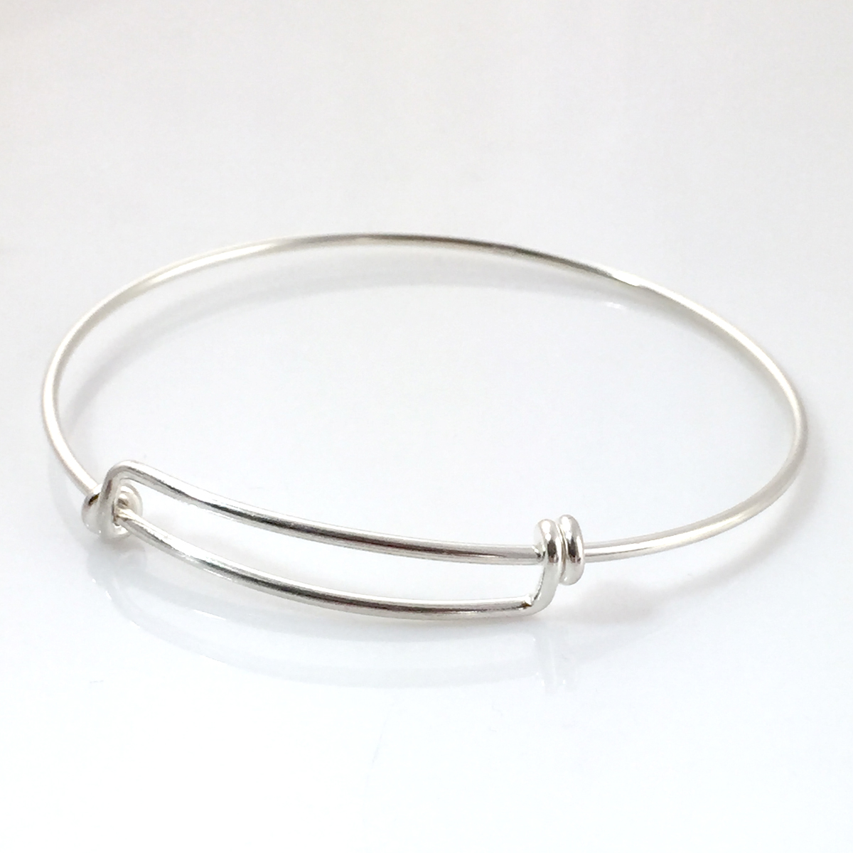Empty sterling silver bangle