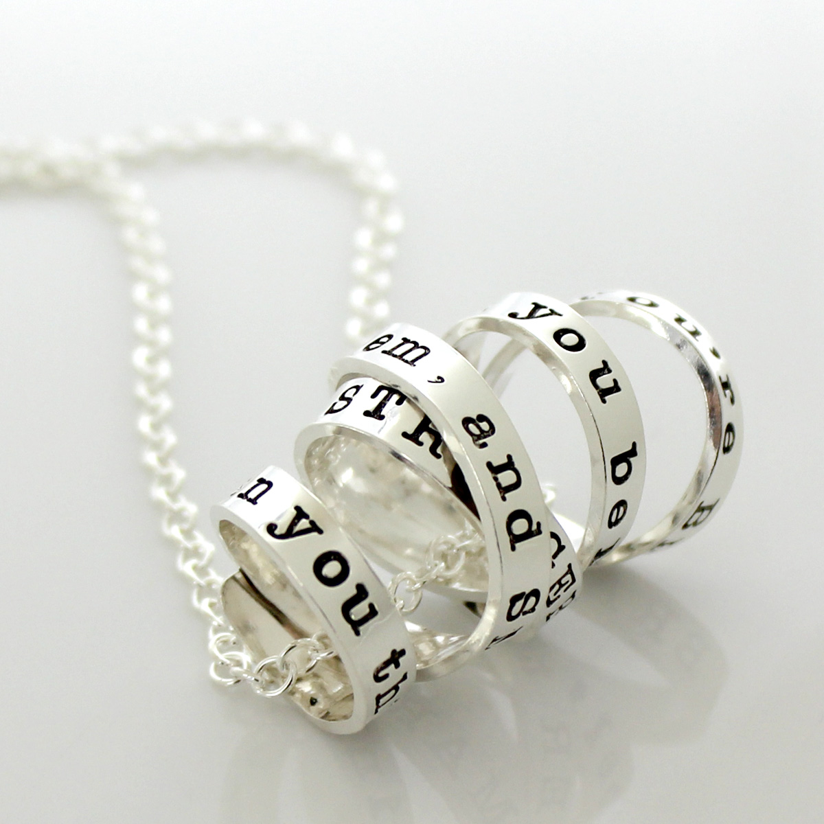 Inspirational Quote Necklace with a Twist