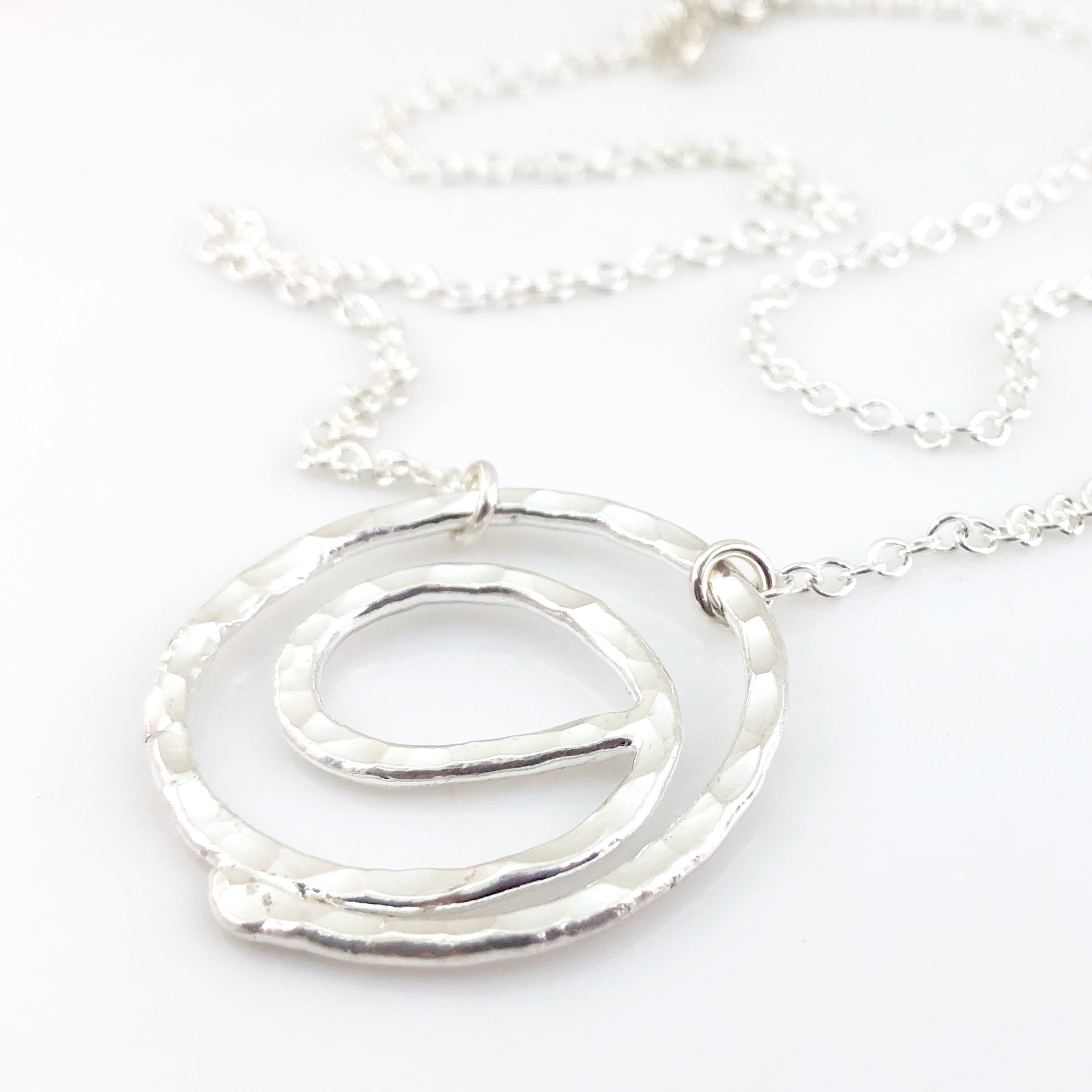 Gratitude Symbol Fine Silver Necklace