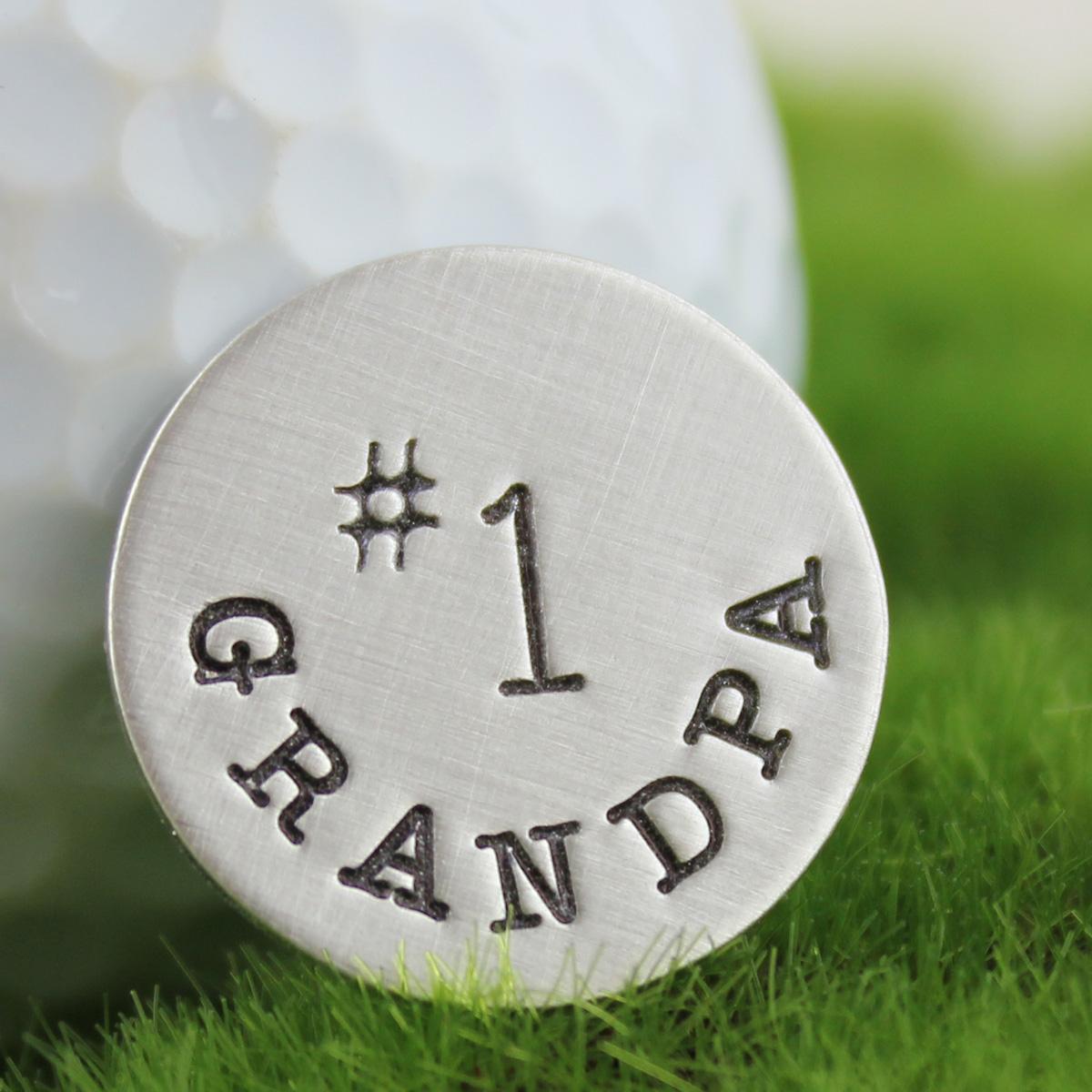No. 1 Grandpa Golf Ball Marker