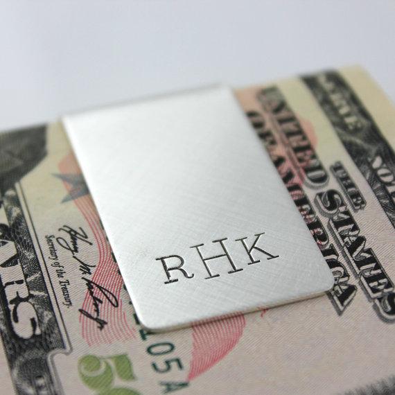 Monogrammed Sterling Silver Money Clip