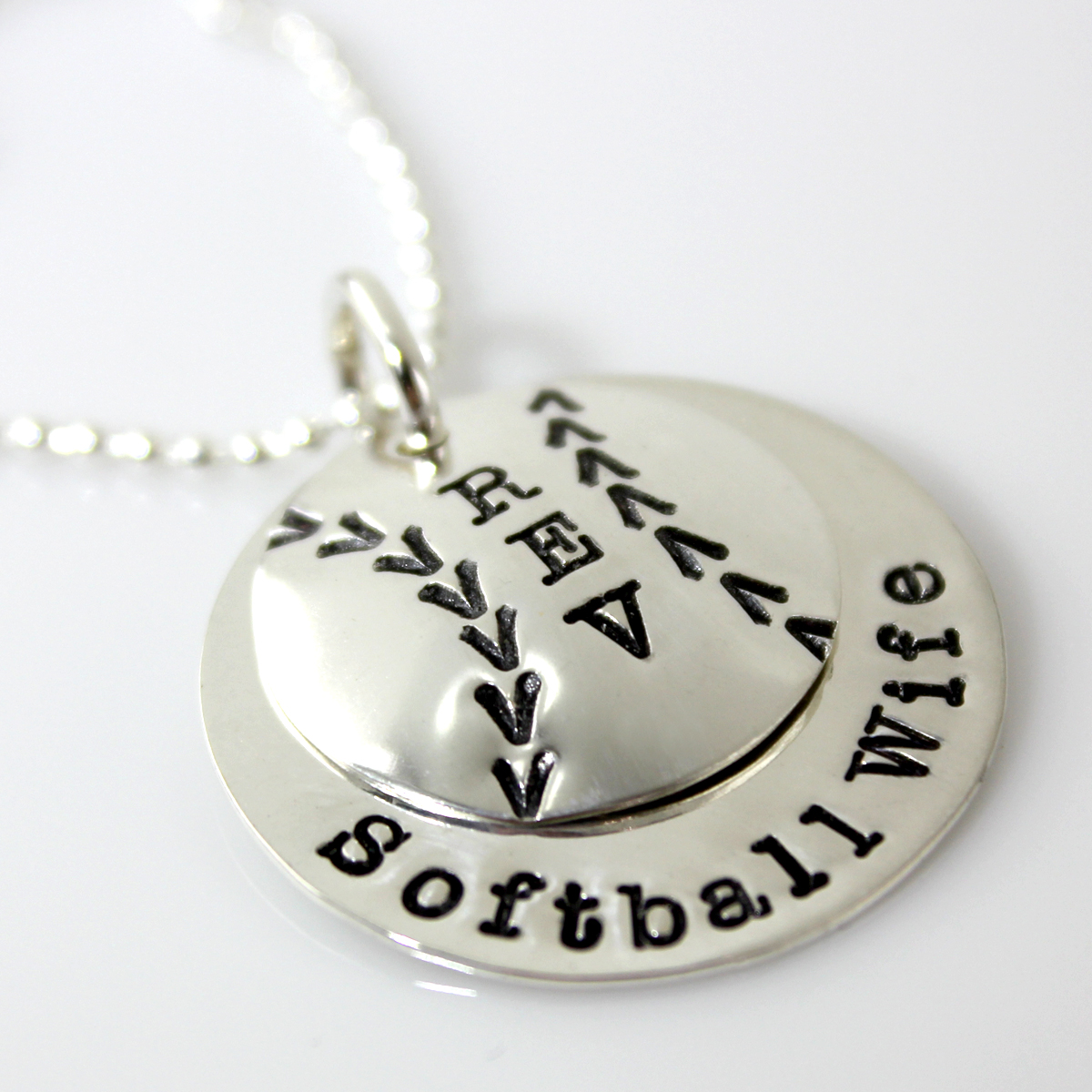 Baseball or Softball Wife Sweet Stack Necklace