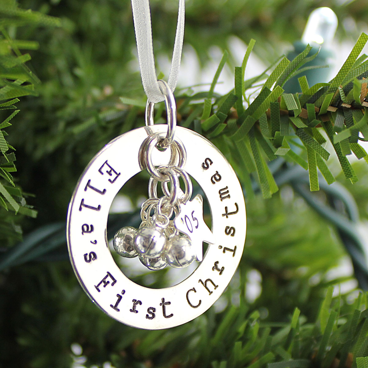 First Christmas Personalized Ornament Keepsake with Jingle Bells