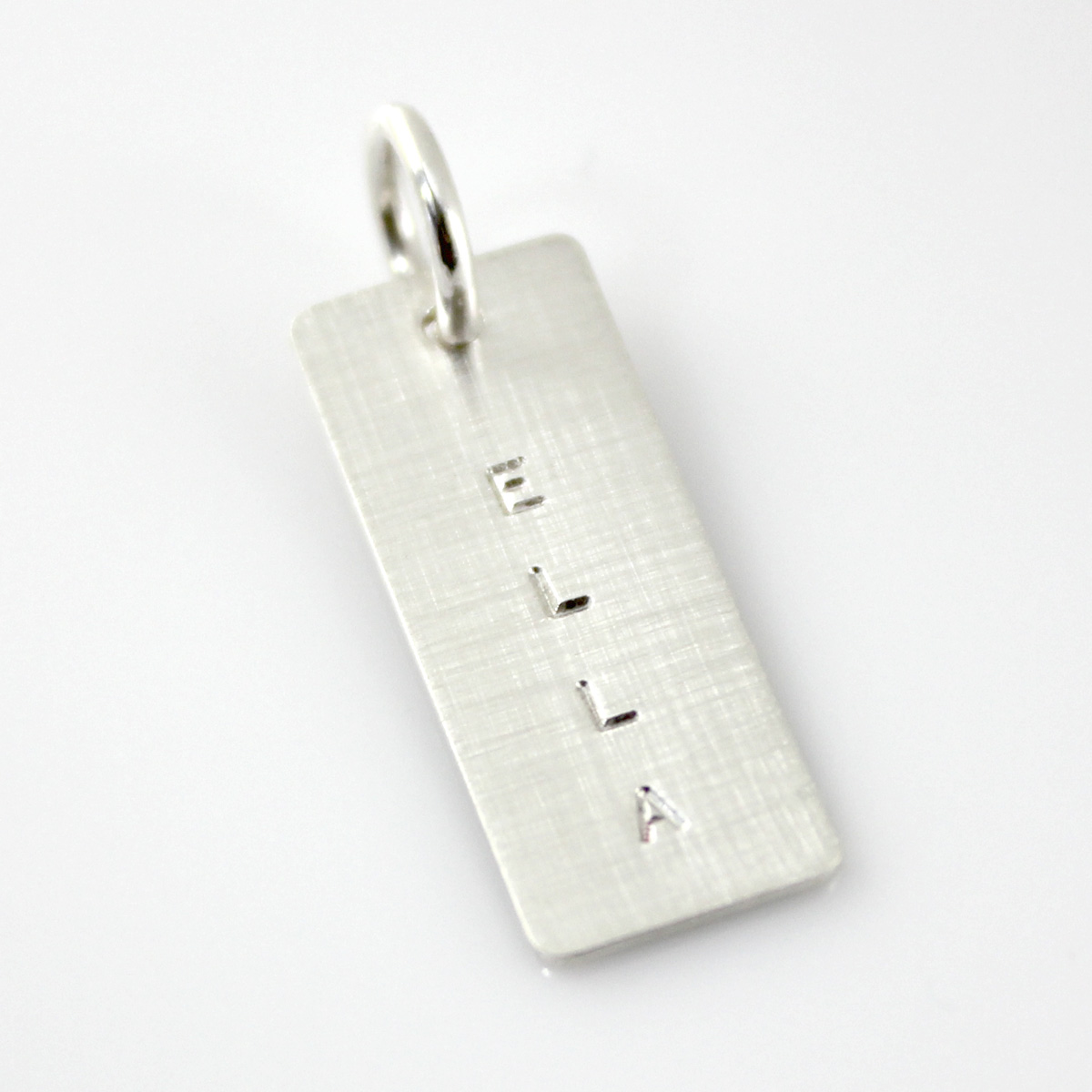Add a Simple Name Tag - Short Silver (up to six characters)