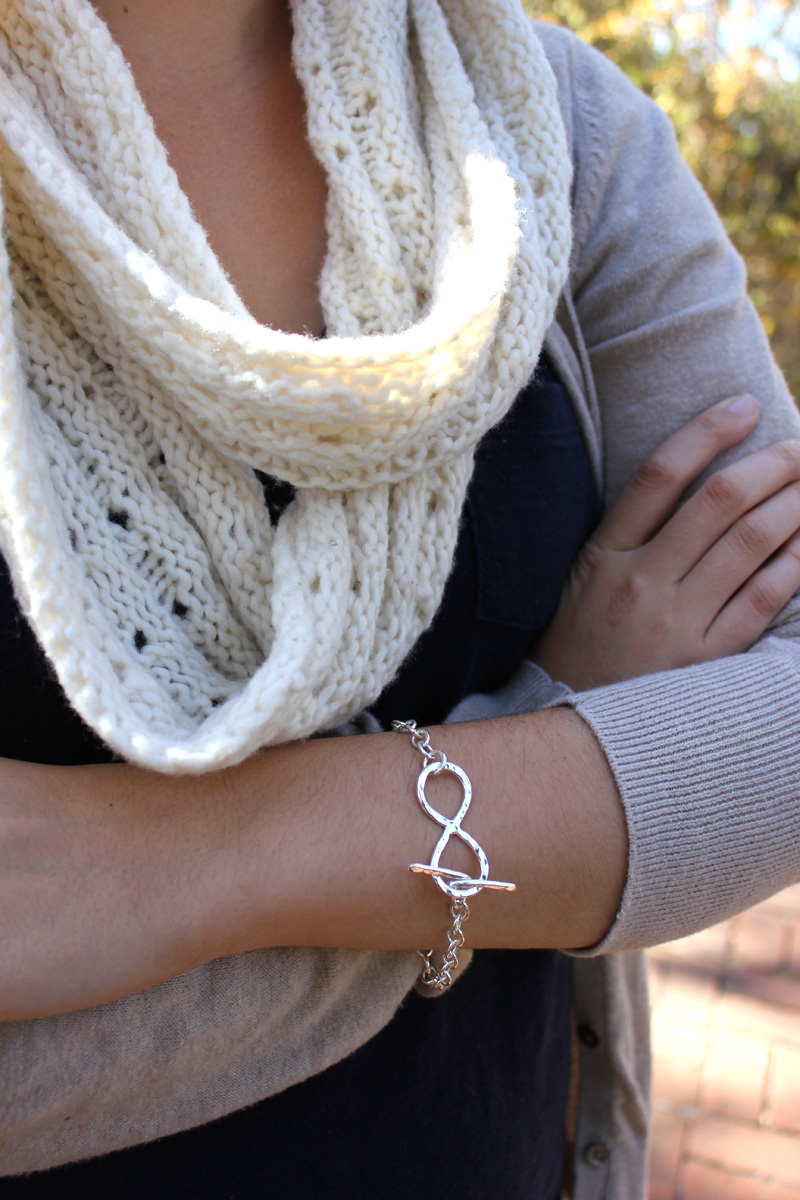 Infinity Toggle Bracelet - on