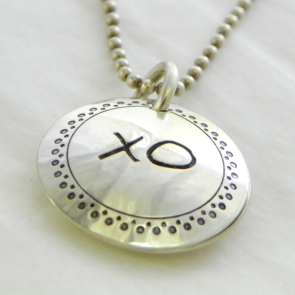 Hugs and Kisses Personalized Faux Locket
