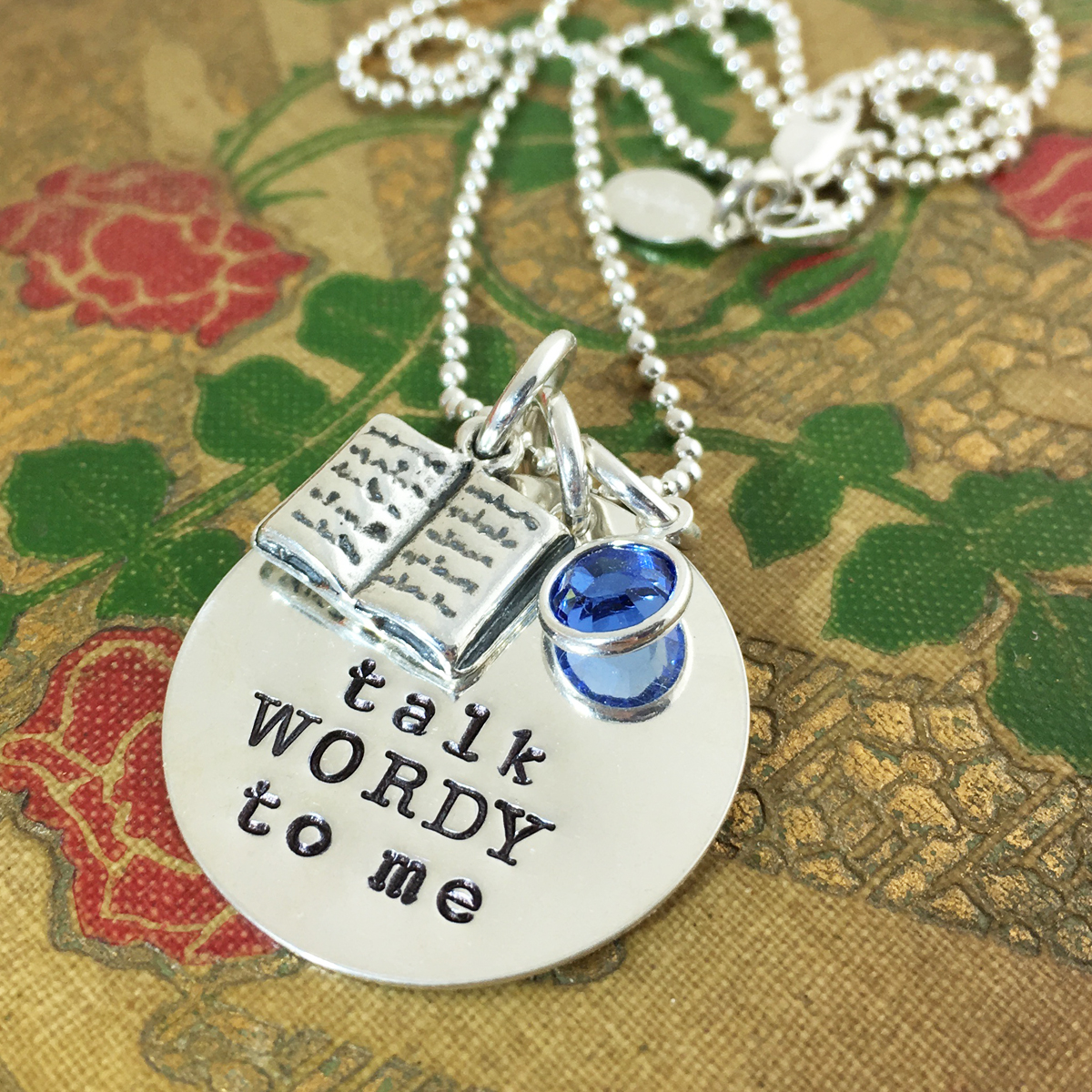 Talk WORDY To Me Book Lover Necklace