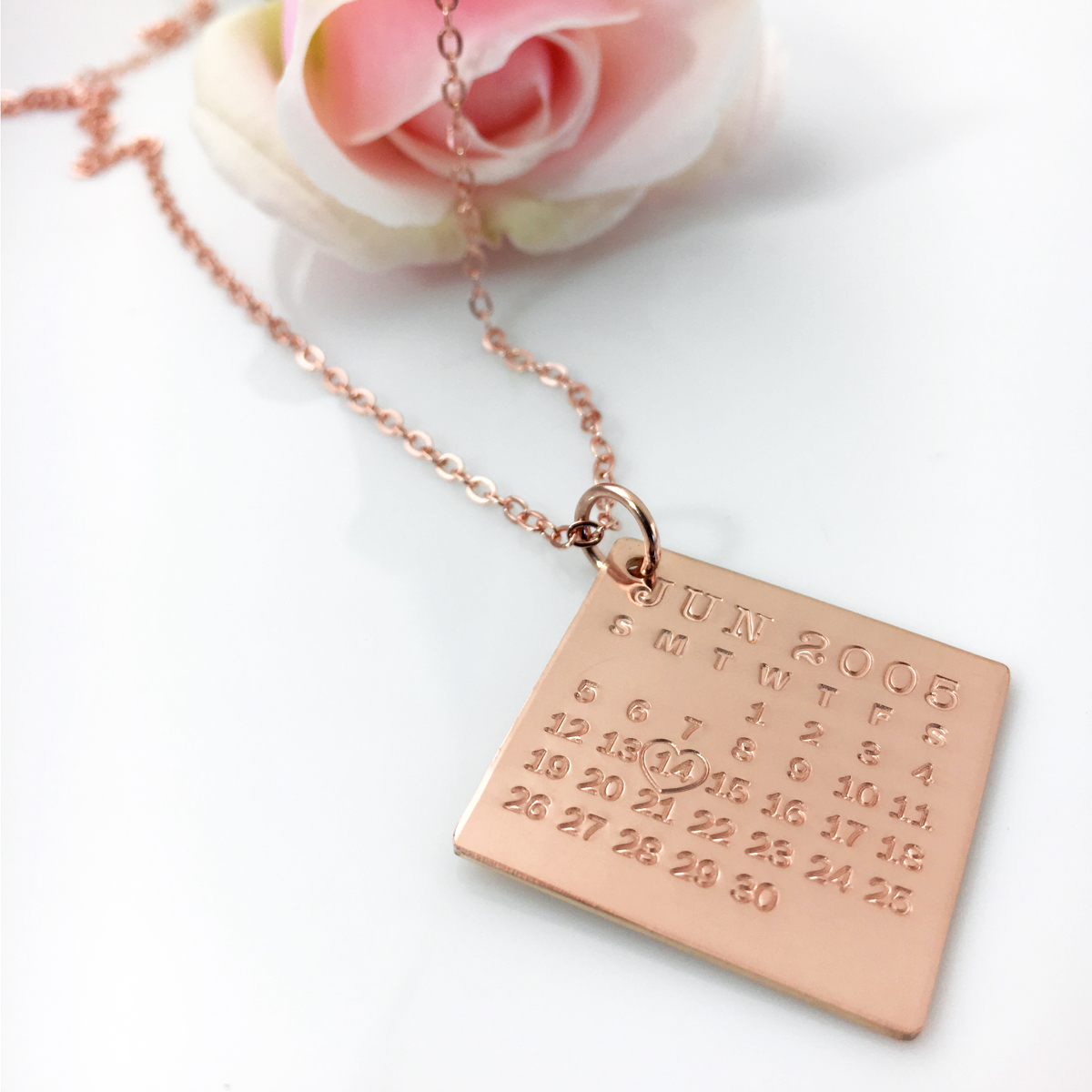 Mark Your Calendar Necklace - Rose Gold Filled