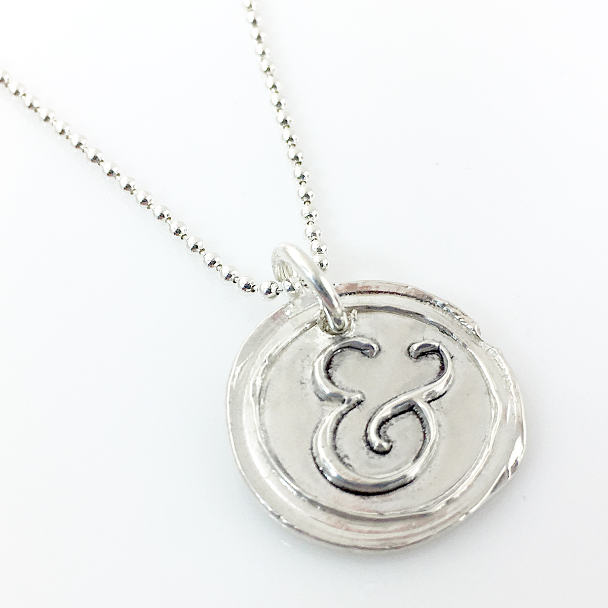 Ampersand Wax Seal Inspired Necklace