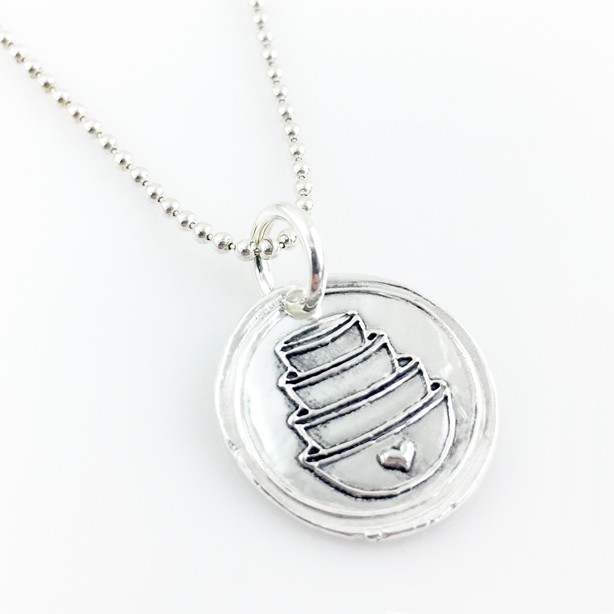 Pyrex Love Wax Seal Inspired Necklace