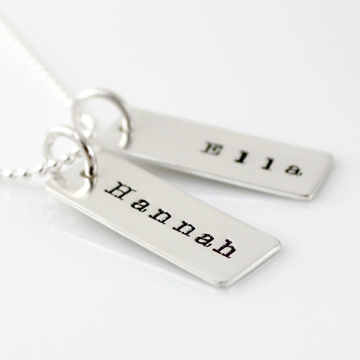 Name Tag Necklace - two tags