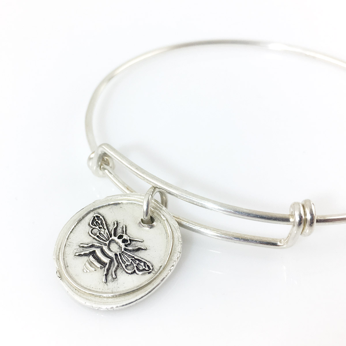 Honey Bee | Wax Seal Inspired Bangle Bracelet