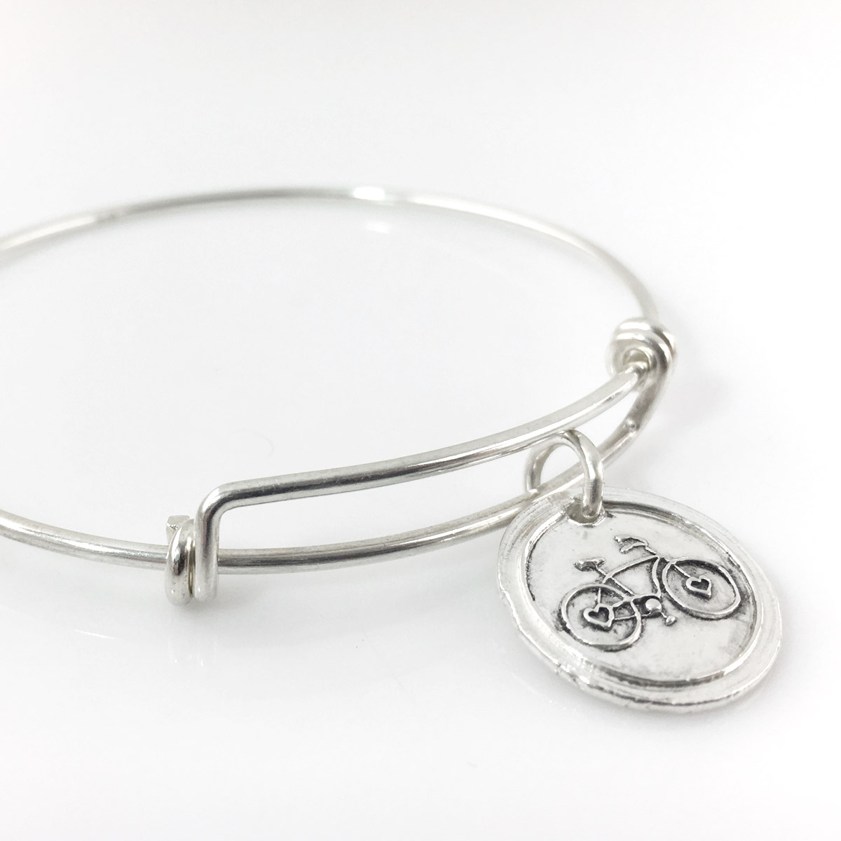 Bicycle Wax Seal Inspired Bangle Bracelet