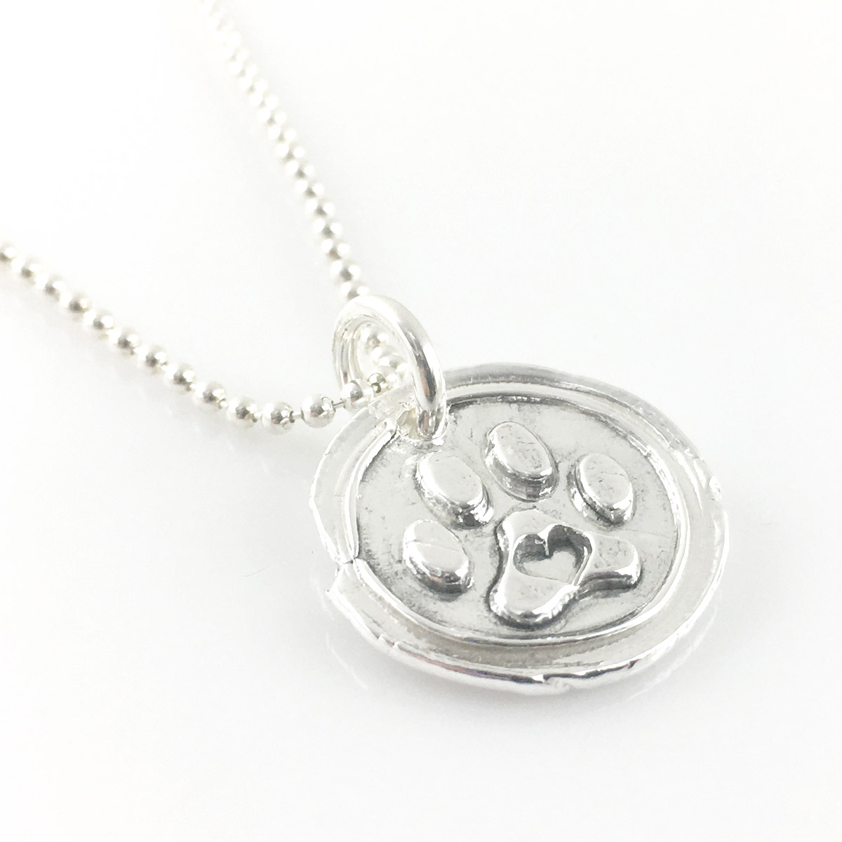 Puppy Love Paw Print Wax Seal Necklace