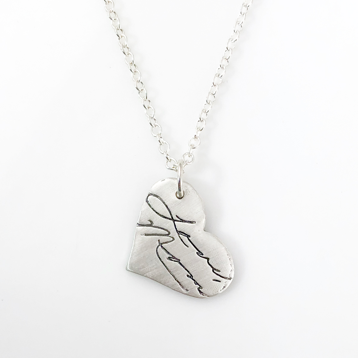 Handwriting Necklace - made from your artwork