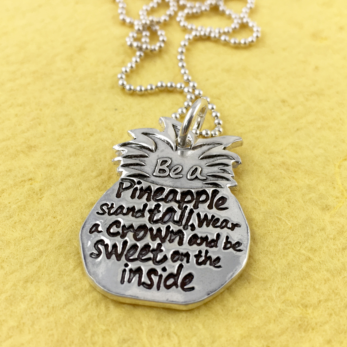 Be a Pineapple Inspirational Necklace (Ready to Ship)