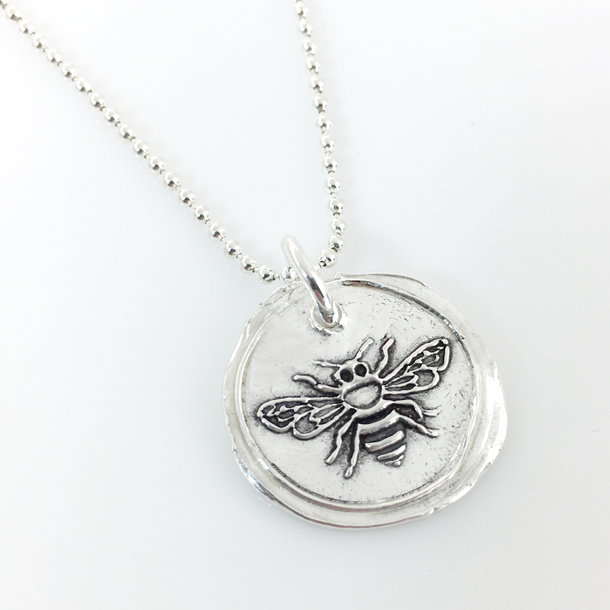 Bee | Honey Bee | Wax Seal Inspired Necklace (Ready to Ship)
