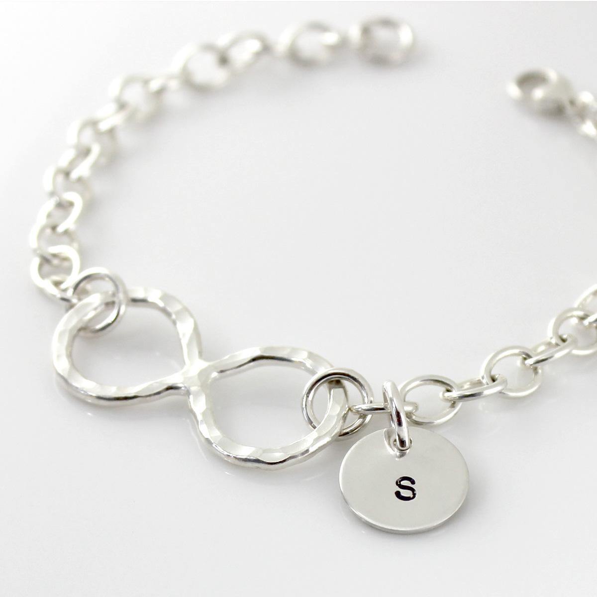 Infinity Symbol Bracelet with initial charm