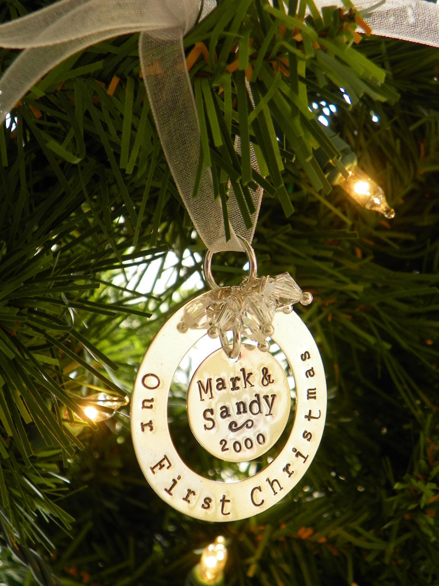 Our First Christmas Personalized Sterling Silver Ornament