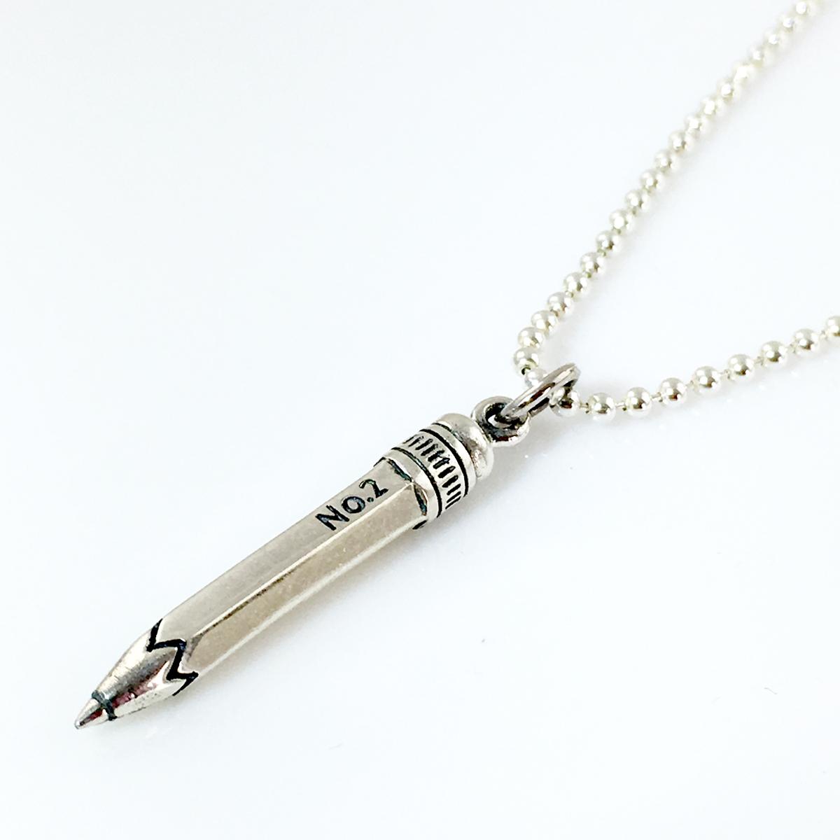 Pencil Simple Charm Necklace