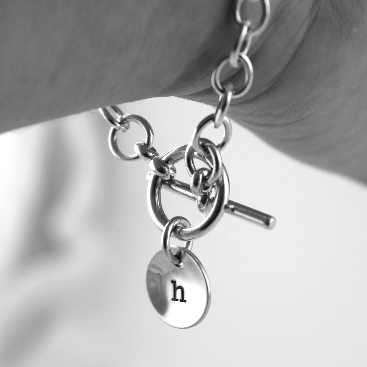 Initial Toggle Bracelet