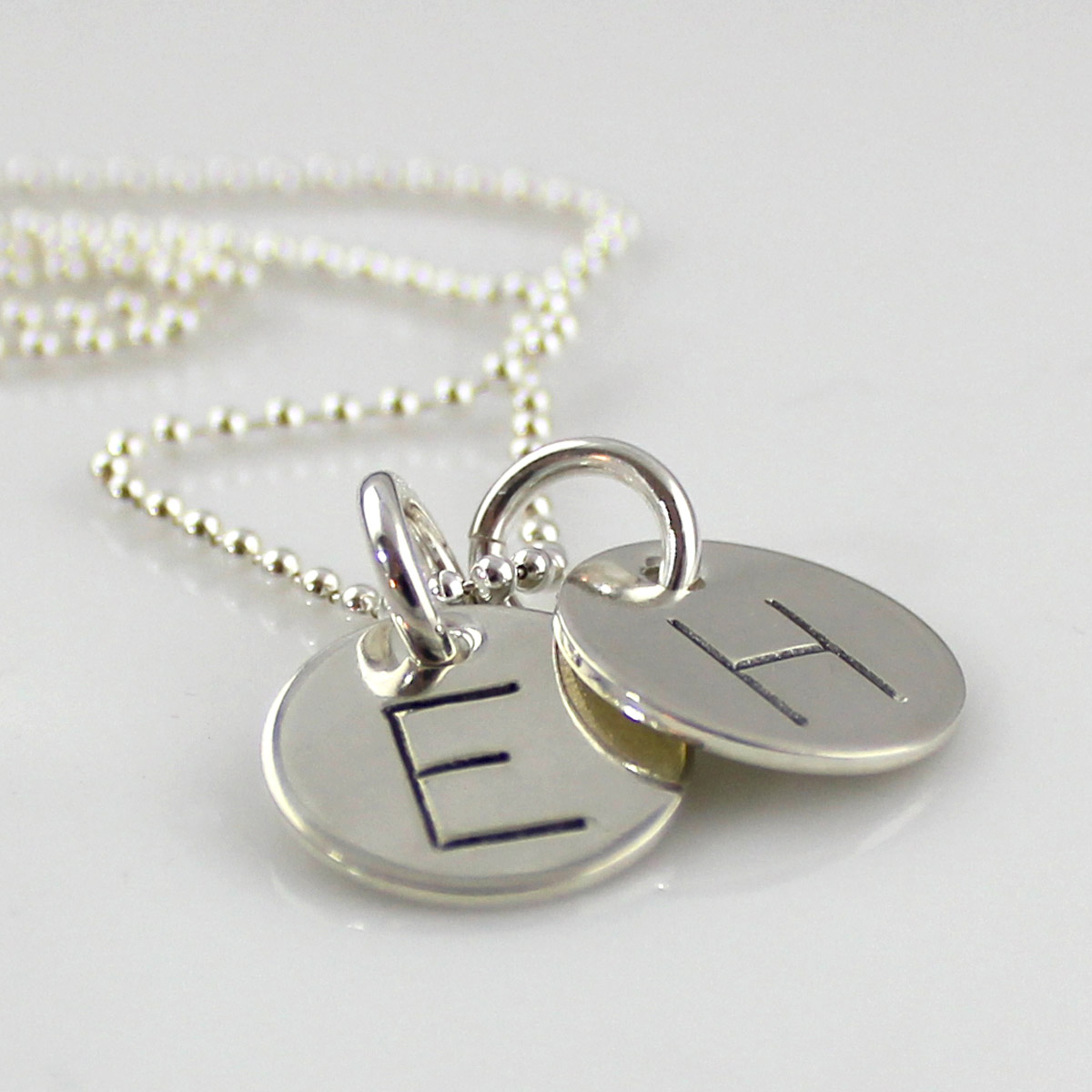 Simple Initial Necklace - Gothic