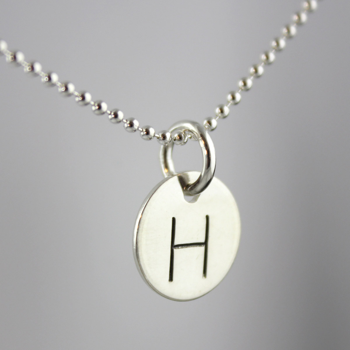 "Simple Initial Necklace - 1/4"" Gothic font"