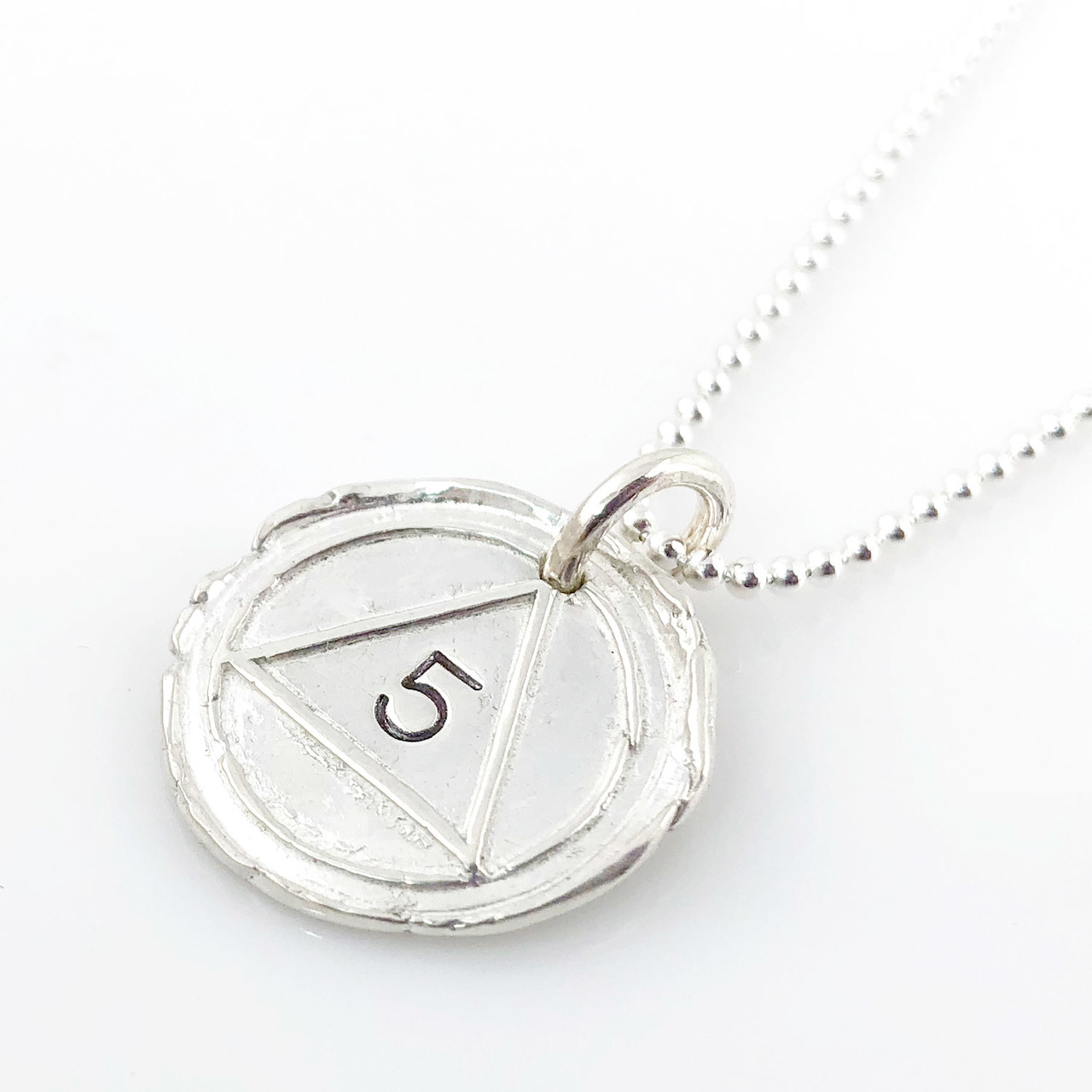 Alcoholics Anonymous (AA) Symbol Wax Seal Necklace