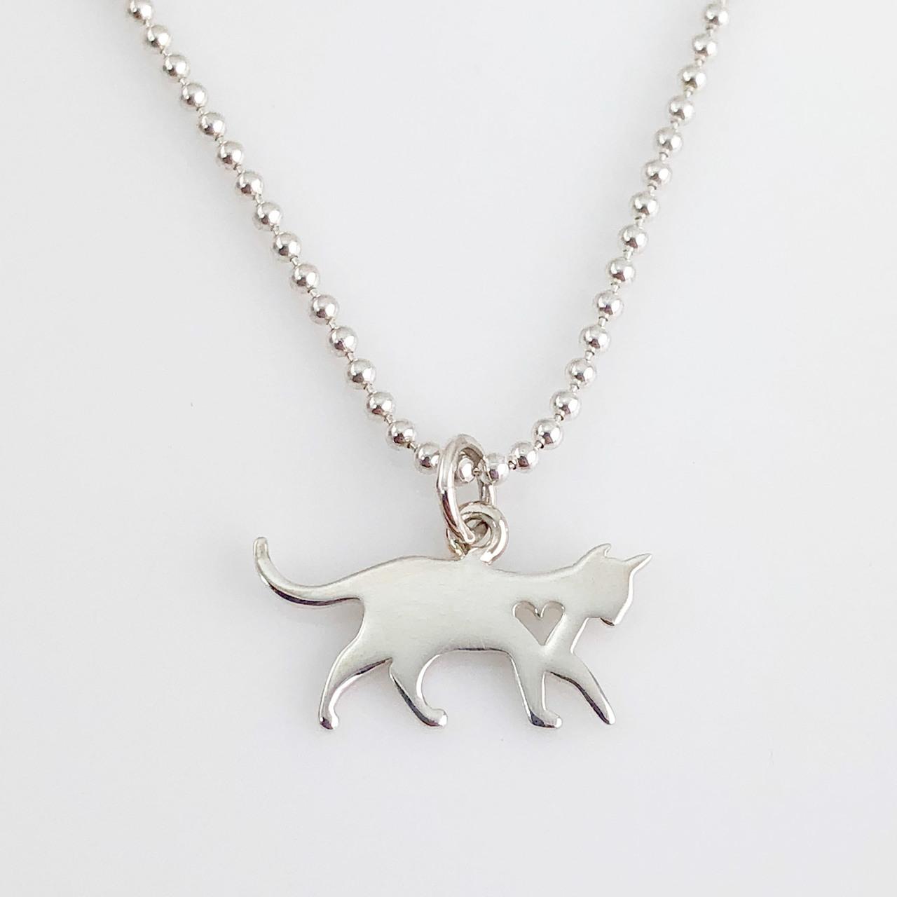 Cat Simple Charm Necklace - Cat Necklace