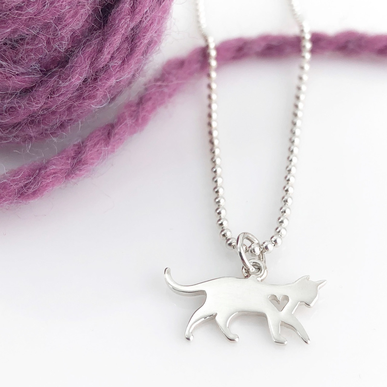 Cat Simple Charm Necklace - Cat Necklace