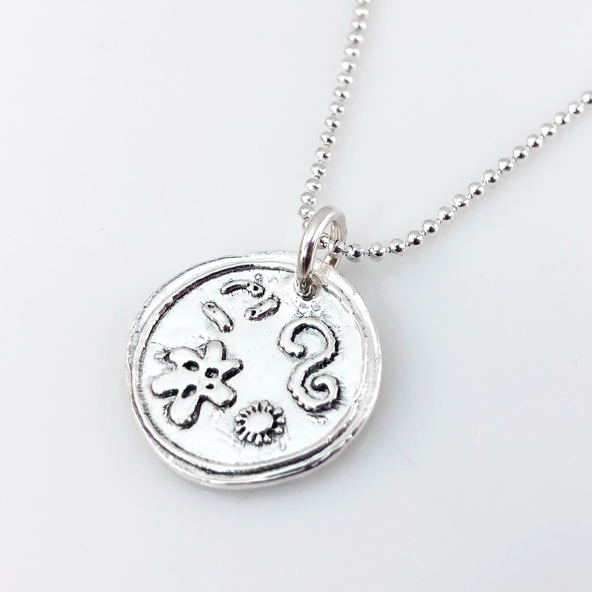 Petri Dish with Bacteria Wax Seal Necklace