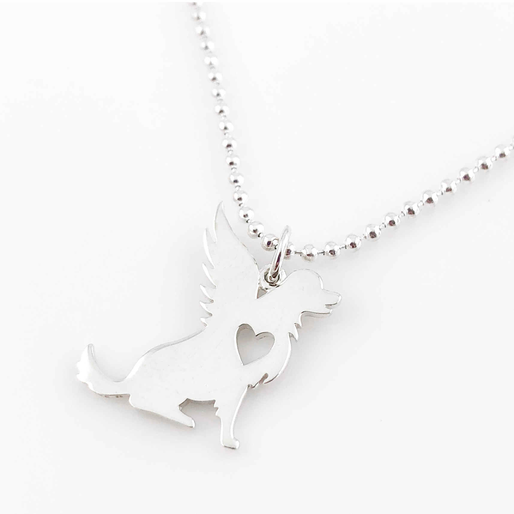 Dog Angel Simple Charm Necklace