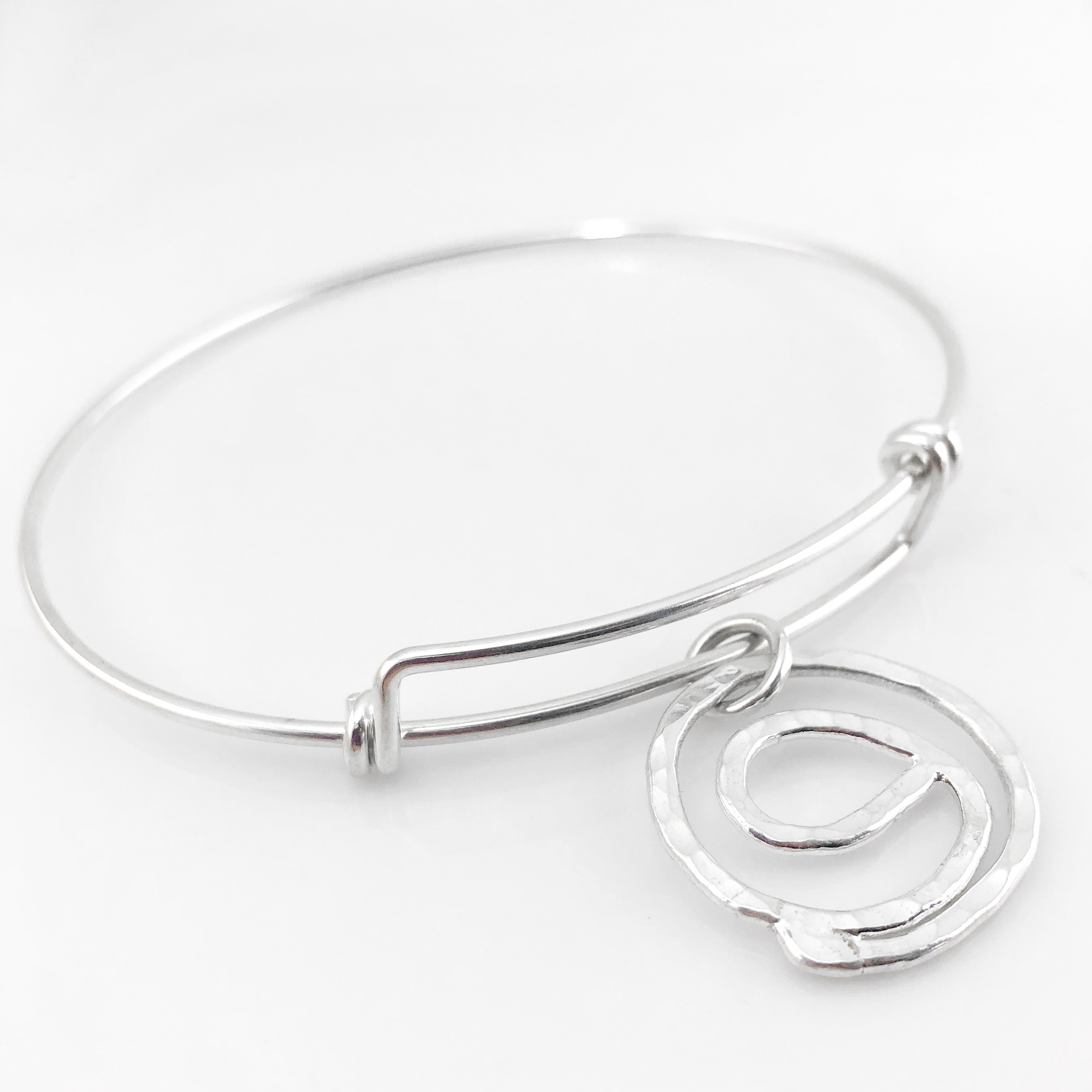 Gratitude Symbol Bangle Bracelet