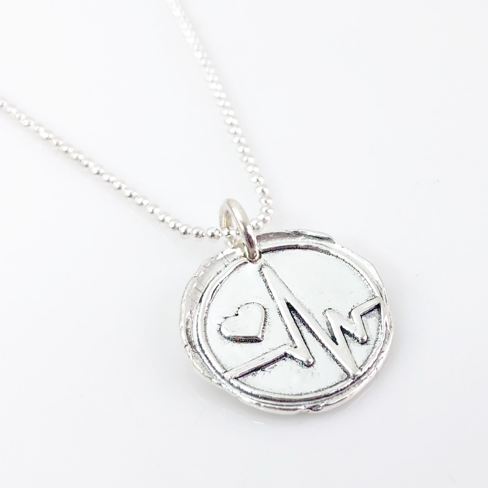 Heartbeat Wax Seal Necklace